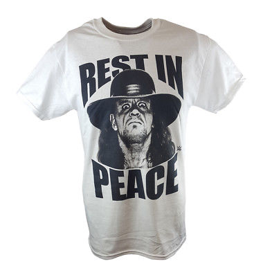 Undertaker Rest In Peace WWE Mens White T-shirt