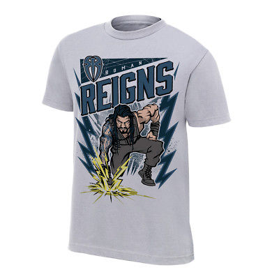 Roman Reigns Believe That WWE Authentic Mens Gray T-shirt