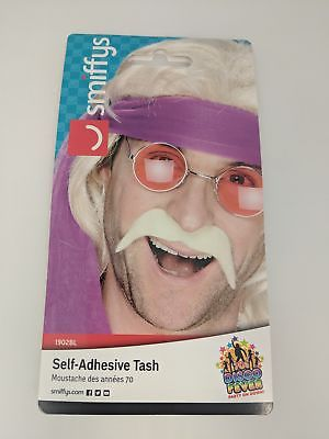 Blonde Self Adhesive Mustache for Hulk Hogan Costume
