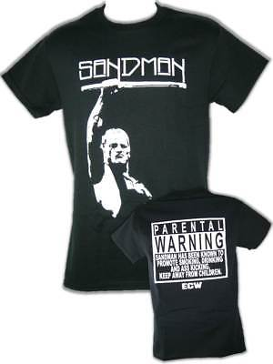 Sandman Parental Warning ECW Mens Black T-shirt