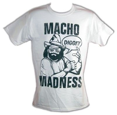 Macho Man Madness Randy Savage Diggit Mens White T-shirt