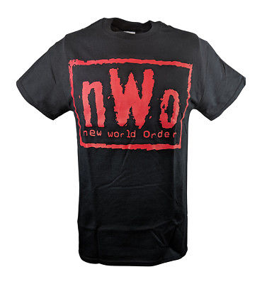 nWo Bad Has Arrived New World Order Red Logo Mens T-shirt