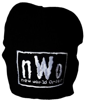 nWo New World Order White Logo WCW Beanie Cap Hat NEW