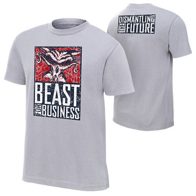 Brock Lesnar Paul Heyman Beast for Business WWE Authentic Mens T-shirt