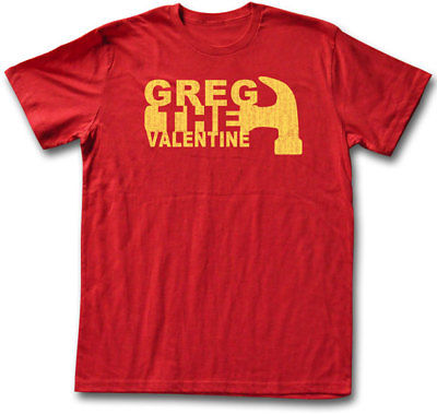 Greg the Hammer Valentine Mens Red T-shirt