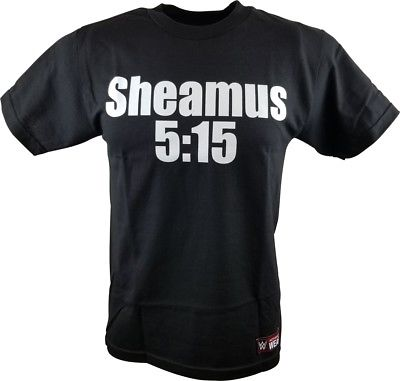 Sheamus 5:15 Brogue Kicked Your Arse WWE Authentic Mens Black T-shirt