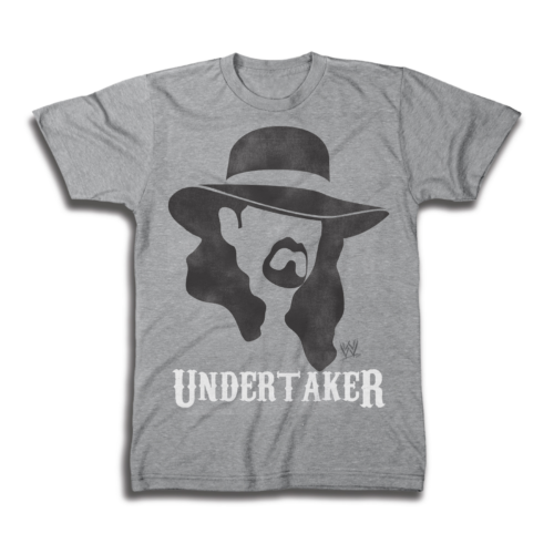 Undertaker Shadow WWE Mens Legends Gray T-shirt