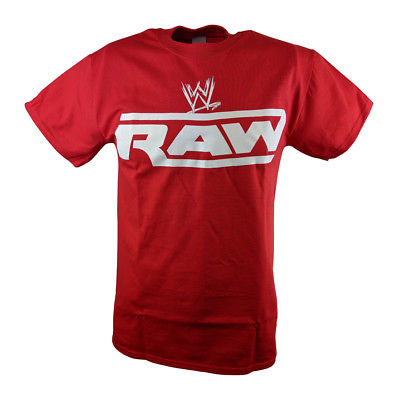 WWE Monday Night Raw Mens Red T-shirt