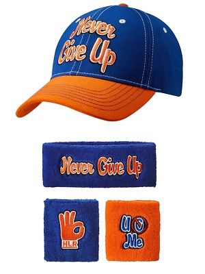 John Cena Respect Earn It Baseball Hat Headband Wristband Set