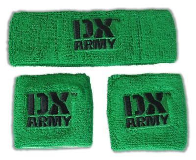 DX Army Green Headband Wristband Set D-Generation X