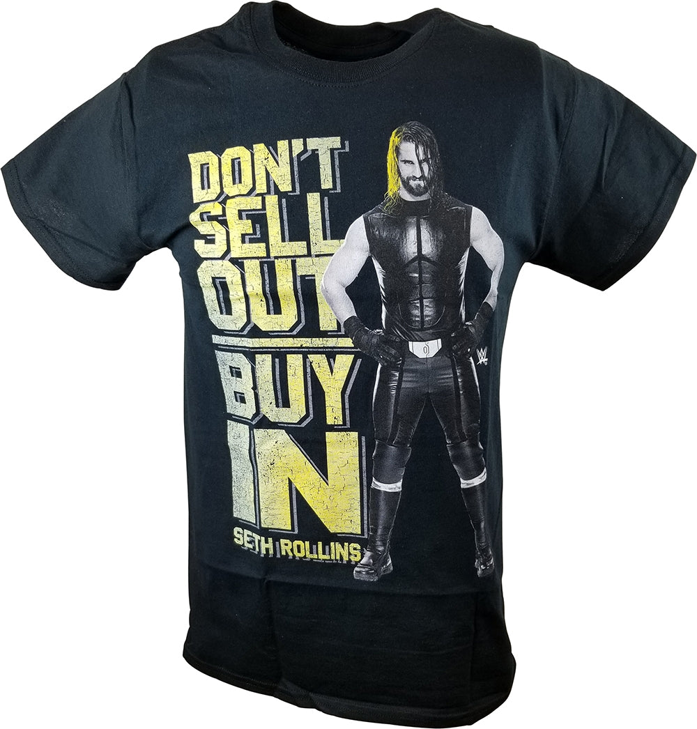 Seth Rollins Don't Buy In Sell Out WWE Mens Black T-shirt