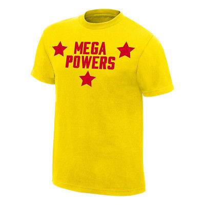 Hulk Hogan Macho Man Randy Savage Mega Powers Yellow T-shirt