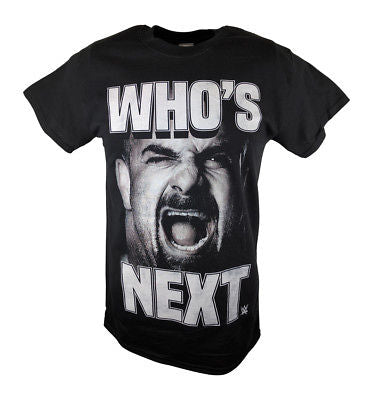 Bill Goldberg Who's Next Screaming WWE Mens T-shirt