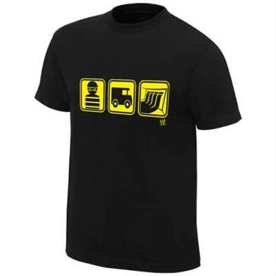 Rob Van Dam Figure It Out Single Sided WWE Mens Black T-shirt RVD ECW