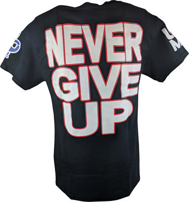 John Cena Red White Blue Never Give Up Kids T-shirt Boys