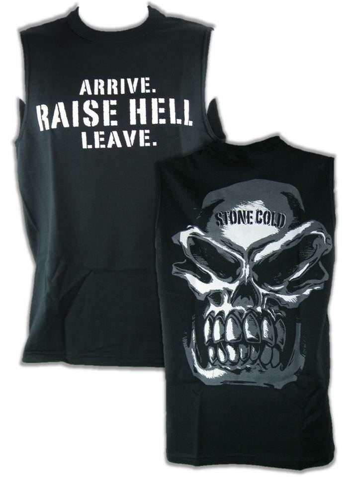 Stone Cold Steve Austin Arrive Raise Hell Leave Sleeveless Muscle Mens T-shirt