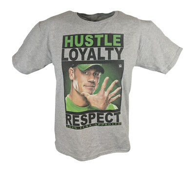John Cena WWE Hustle Loyalty Respect Boys Kids Grey T-shirt