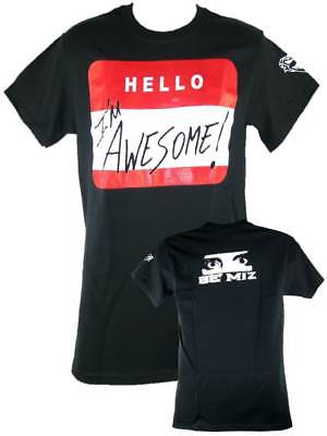 The Miz Hello I'm Awesome Be Miz Nametag Mens Black T-shirt