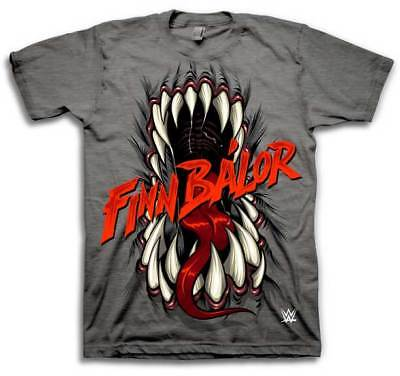 Finn Balor Demon Mouth WWE Mens Grey T-shirt
