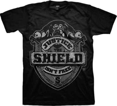 The Shield Justice Isn't Free Reigns Ambrose Rollins WWE Mens Black T-Shirt