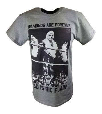 Ric Flair Diamonds Are Forever WWE Mens Gray T-shirt