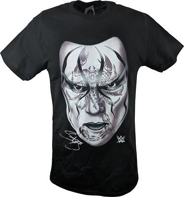 Sting Black Scorpion Face WWE Mens T-shirt