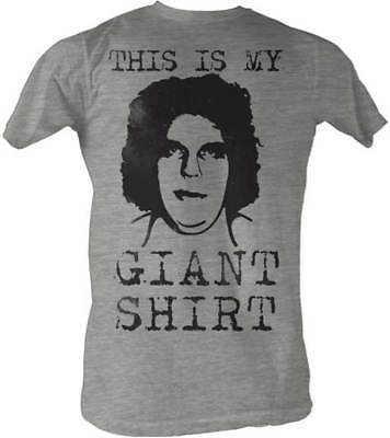 Andre the Giant Gray BIG HEAD Lightweight T-shirt New