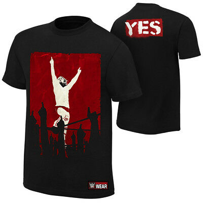Daniel Bryan Yes Revolution WWE Authentic Mens Red T-shirt