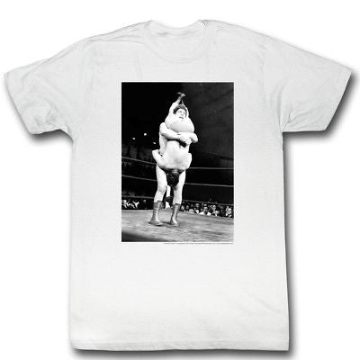 Andre the Giant Piledriver WWE Mens White T-shirt