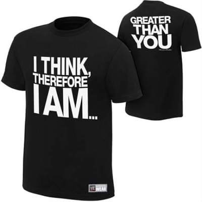 Damien Sandow I Think Therefore I Am Greater Than You WWE Authentic T-shirt