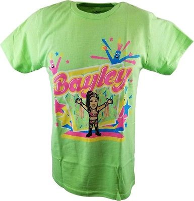 Bayley Cartoon x Nerds WWE Authentic MensT-shirt