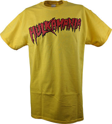 Yellow Hulk Hogan Hulkamania Mens T-shirt