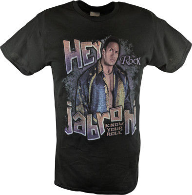 The Rock Know Your Role Jabroni WWE Mens Black T-shirt
