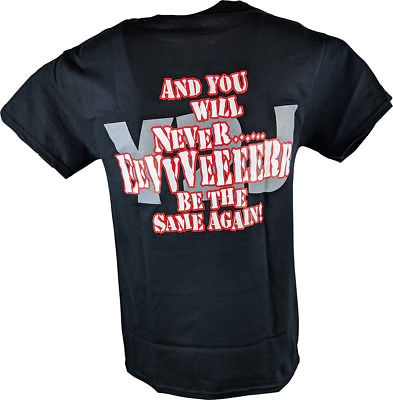RAW IS Chris JERICHO Never Be The Same Again Mens Black T-shirt