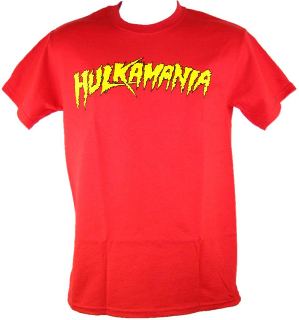 Red Hulk Hogan Hulkamania Mens T-shirt