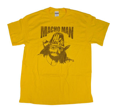 Macho Man Randy Savage Big Yellow Hat T-shirt Single Sided Print