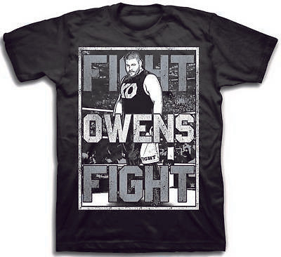 Kevin Owens WWE Mens Pose T-shirt Single Sided Print