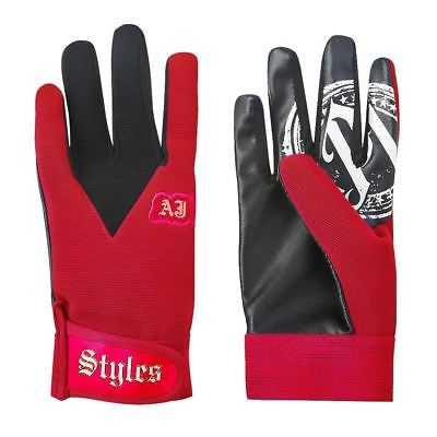 AJ Styles P1 Logo Pro Wrestling Fight Gloves - Red Black Gray Blue
