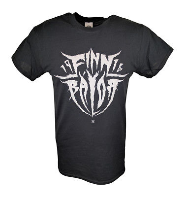 Finn Balor Jagged White Logo WWE Mens Black T-shirt