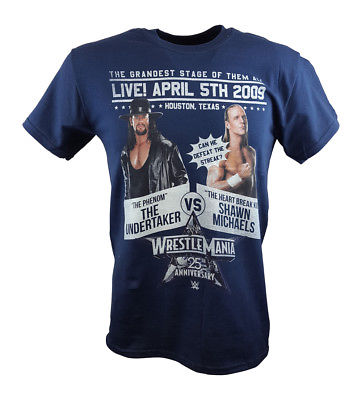 Wrestlemania 25 Shawn Michaels vs The Undertaker WWE Poster T-shirt