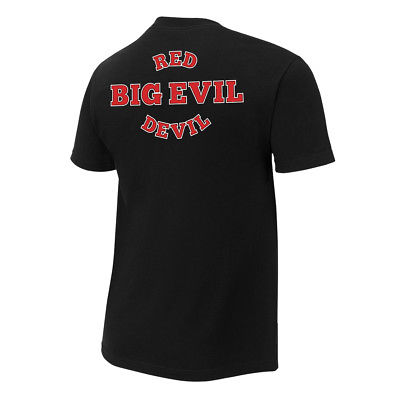 Undertaker Big Evil Red Devil Head Mens Black T-shirt
