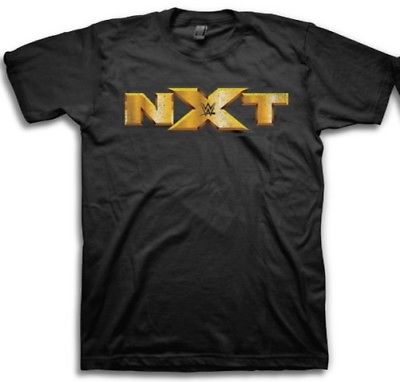 NXT Gold Logo WWE Mens Black T-shirt