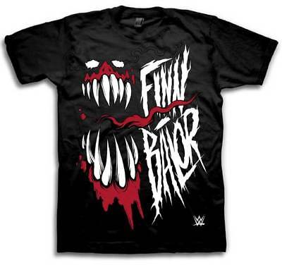Finn Balor Demon Fangs WWE Mens Black T-shirt