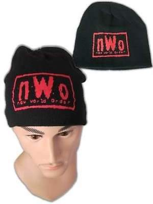 nWo New World Order Red Logo WCW Beanie Cap Hat