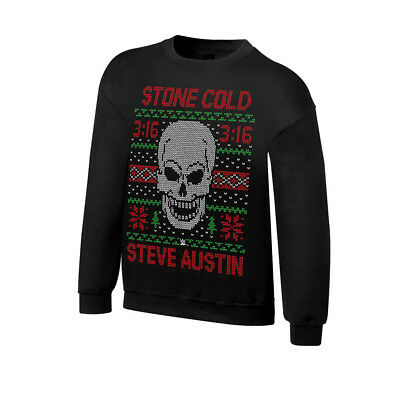 A Stone Cold Christmas.Stone Cold Steve Austin 3 16 Wwe Ugly Christmas Mens Sweater