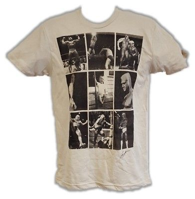 Hulk Hogan Photo Collage Tan Triblend T-shirt