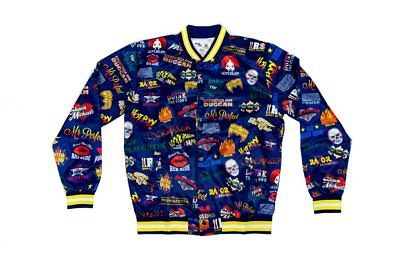 Chalkline Legends Allover Logo Blue Yellow WWE Satin Jacket
