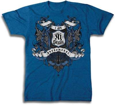 I Am AJ Styles Crest WWE Mens Blue T-shirt