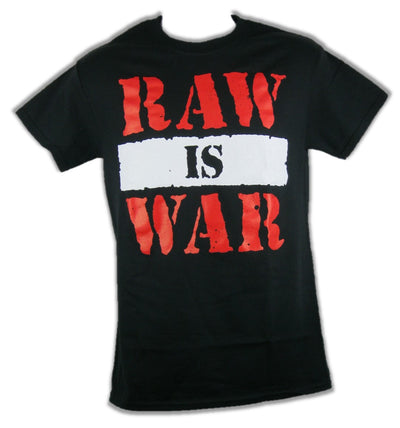 Monday Night Raw Is War WWF Attitude Era Mens Black T-shirt