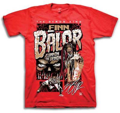 Finn Balor Summon The Demon King WWE Mens Red T-shirt